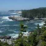 An incoming off shore swell adds spectacle to this westerly view from the Goat Trail