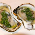 Oysters with Cilantro by Ellard Taylor, St Patty's Day, Pulpit Harbor Kitchen