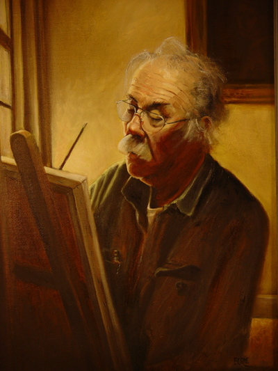 Lonnie C. at the Easel © Jeffrey Burke 2012