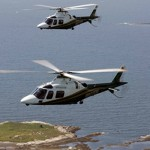 LifeFlight's two Augusta helicopters.  They need three.   -- Photo courtesy of LifeFlight of Maine